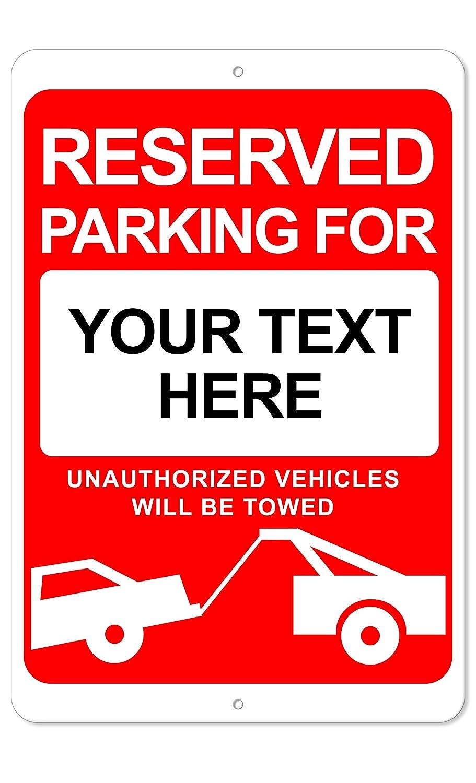 Amazon.com: Señal de aluminio para aparcamiento reservado ...