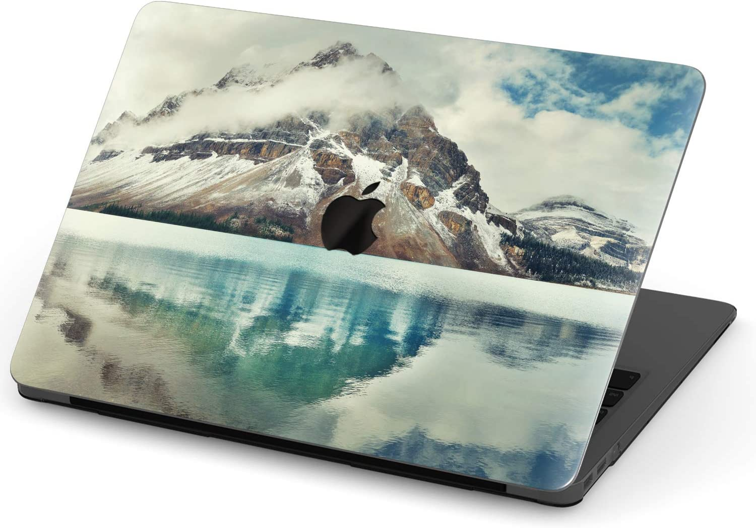 Mertak Hard Case for Apple MacBook Pro 16 Air 13 inch Mac 15 Retina 12 11 2020 2019 2018 2017 Design Abstract Vaporwave Mountains Purple Protective Clear Print Retro Laptop Pink Trippy Cool Plastic