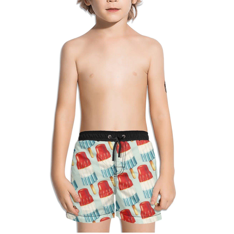 Juliuse Marthar Bomb Pop Popsicle Swim Trunks Quick Dry Beach Board Shorts for Boys