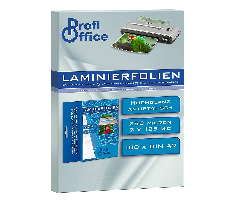 Profioffice Laminierfolien Din A7 2 X 125 Mikron 100 Stück 19011
