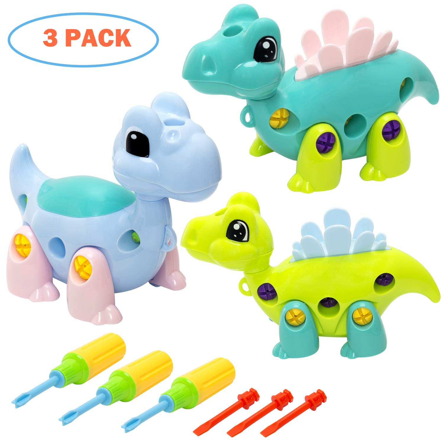 Amazon.com: INNOCHEER Dinosaur Take Apart Toys with Tools, Stem Learning Set, Birthday for Boys, Girls Age 3 Years and Up: \u0026 Games
