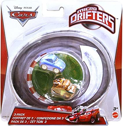 Amazon Com Cars Micro Drifters Sally Lightning Mcqueen And Mater Toy Vehicle 3 Pack Toys Games