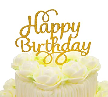 Happy Birthday Cake Topper Buro Twinkle Diy Glitzer Ersten