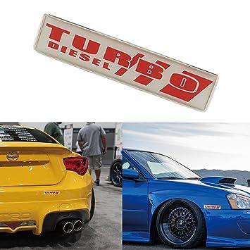 3d de aluminio Turbo Diesel emblema coche parrilla frontal Fender Cuerpo Pegatina de tronco para volkswagen