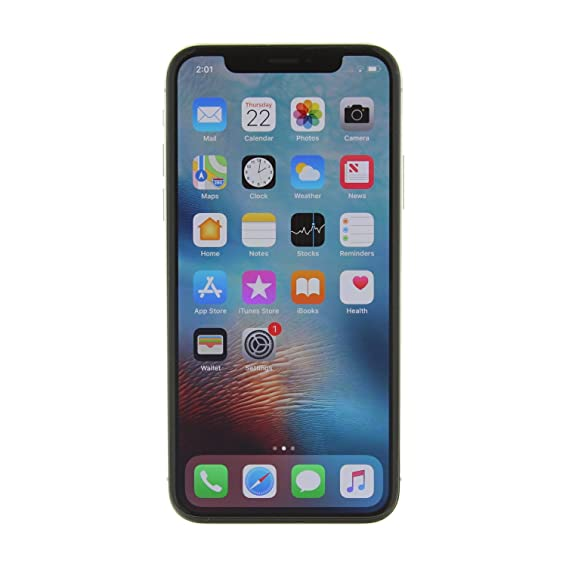 74a1b313ff9 Amazon.com  Apple iPhone X 64GB Unlocked GSM Phone - Silver (Renewed ...