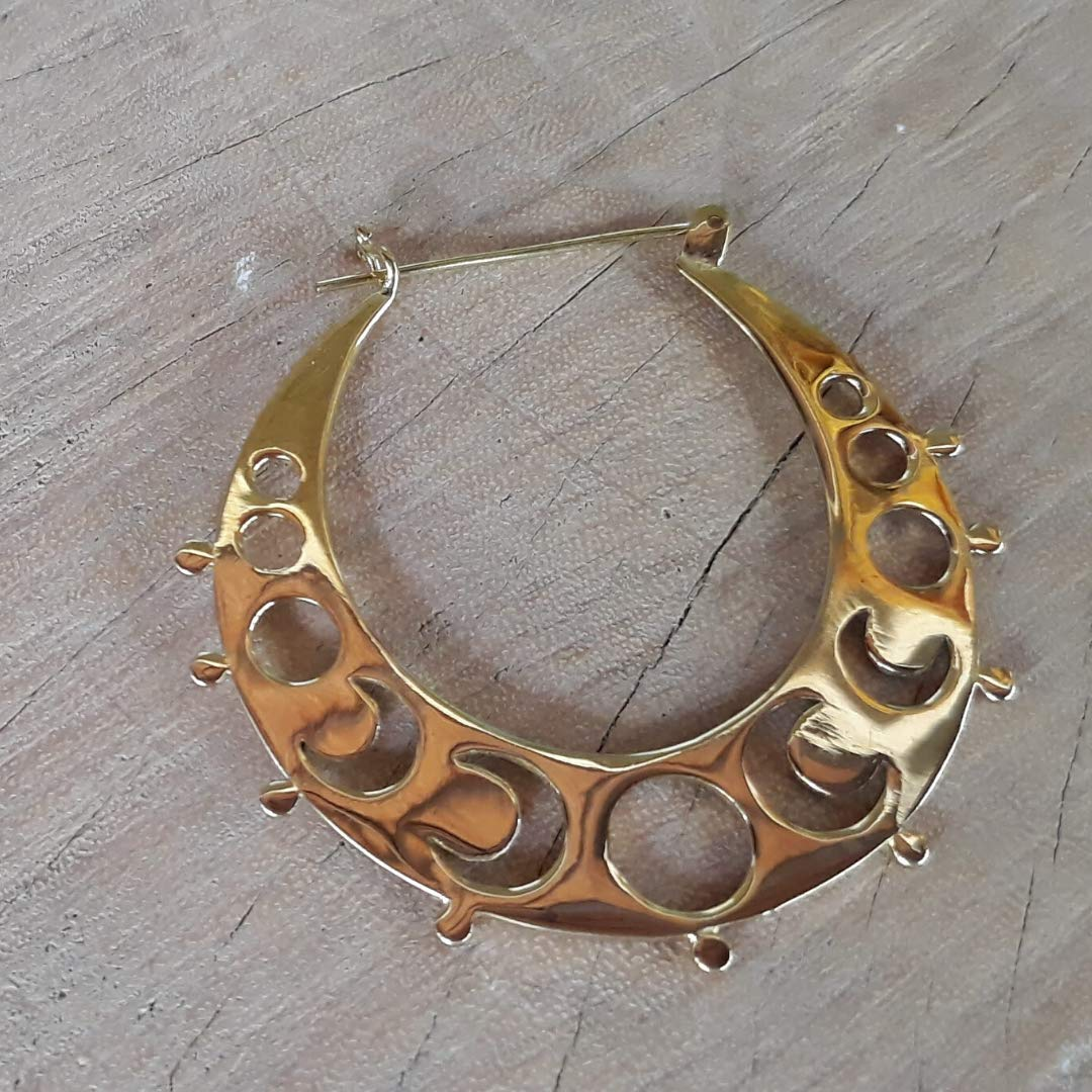 Moon Phase Hoops Boho Moon Earrings for Women July Birthday Gift