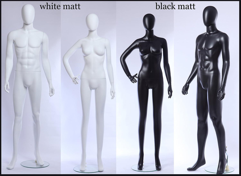 Euroton YW3-8 schwarz matt lackierte abstrakte Mannequin Mann