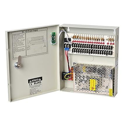 amazon com lapetus 18 channel output 12v dc 10a auto reset fuse
