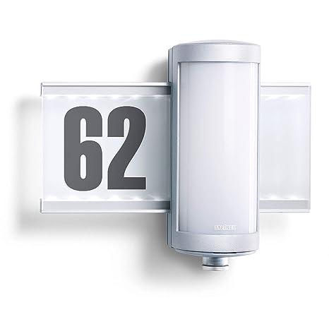 Steinel Außenleuchte L 625 Hausnummer Beleuchtet Led Wandleuchte Mit 360 Bewegungsmelder Aluminium 10 W Silber Energieklasse A