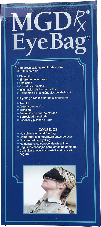 MGDRx EyeBag® - versión español - compresa caliente para blefaritis, ojo seco y disfunción de las glándulas de Meibomion