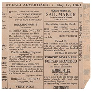 Food Grade Tissue Paper Deli Wrappers Double Open Bags, Vintage Newsprint Newspaper Print, Pack of 50