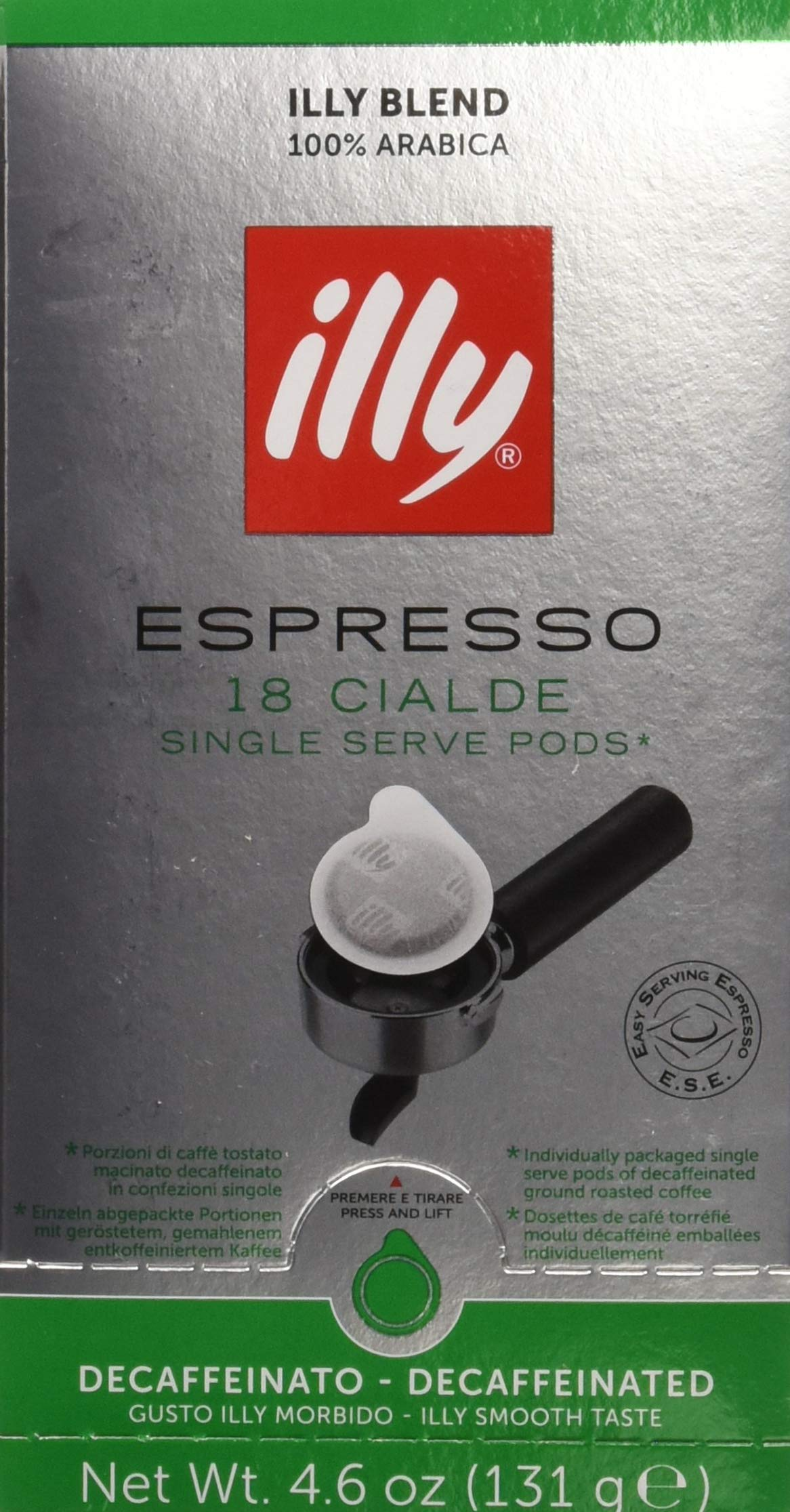 Illy E.S.E Espresso Pods - Decaf - 18 Count