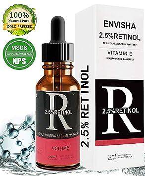 Retinol Serum, OKEEY Suero Antienvejecimiento de Alta Resistencia con ácido Hialurónico Serum y Vitamina E