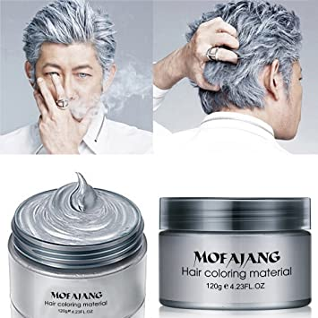 Amazon.com: MOFAJANG Hair Color Wax,Instant Silver Grey Hair Wax ...