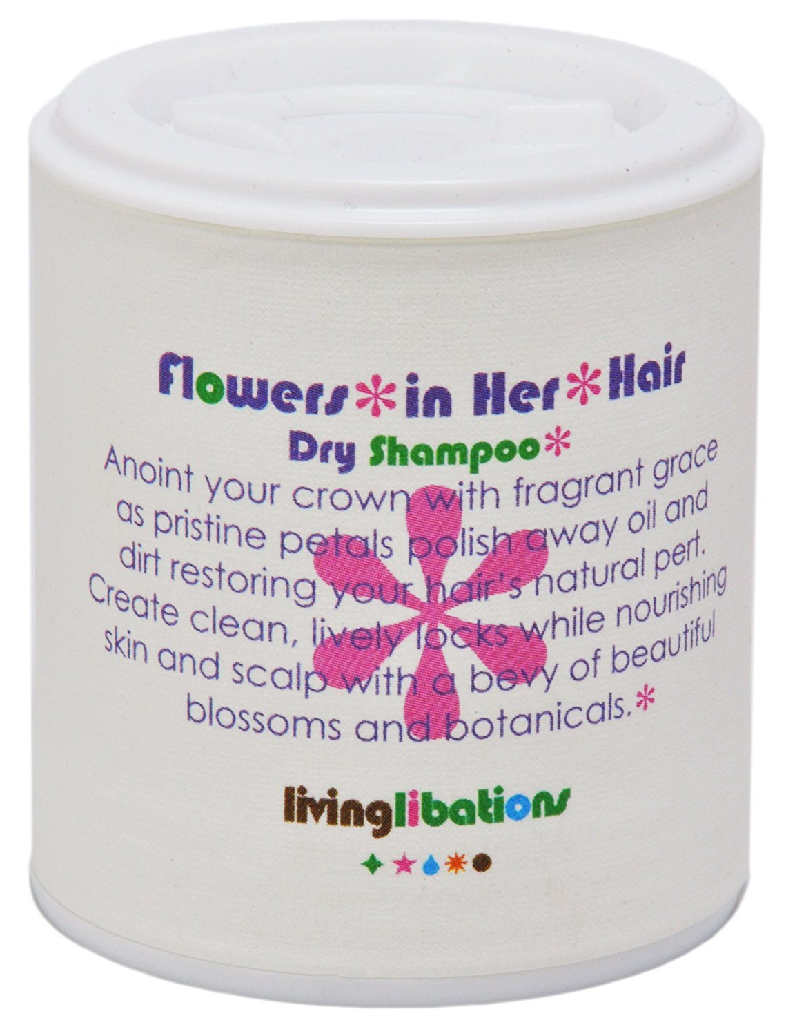 Living Libations - Organic/Wildcrafted Flowers in Her Hair Dry Shampoo (1.69 oz/50 ml) by Living Libations