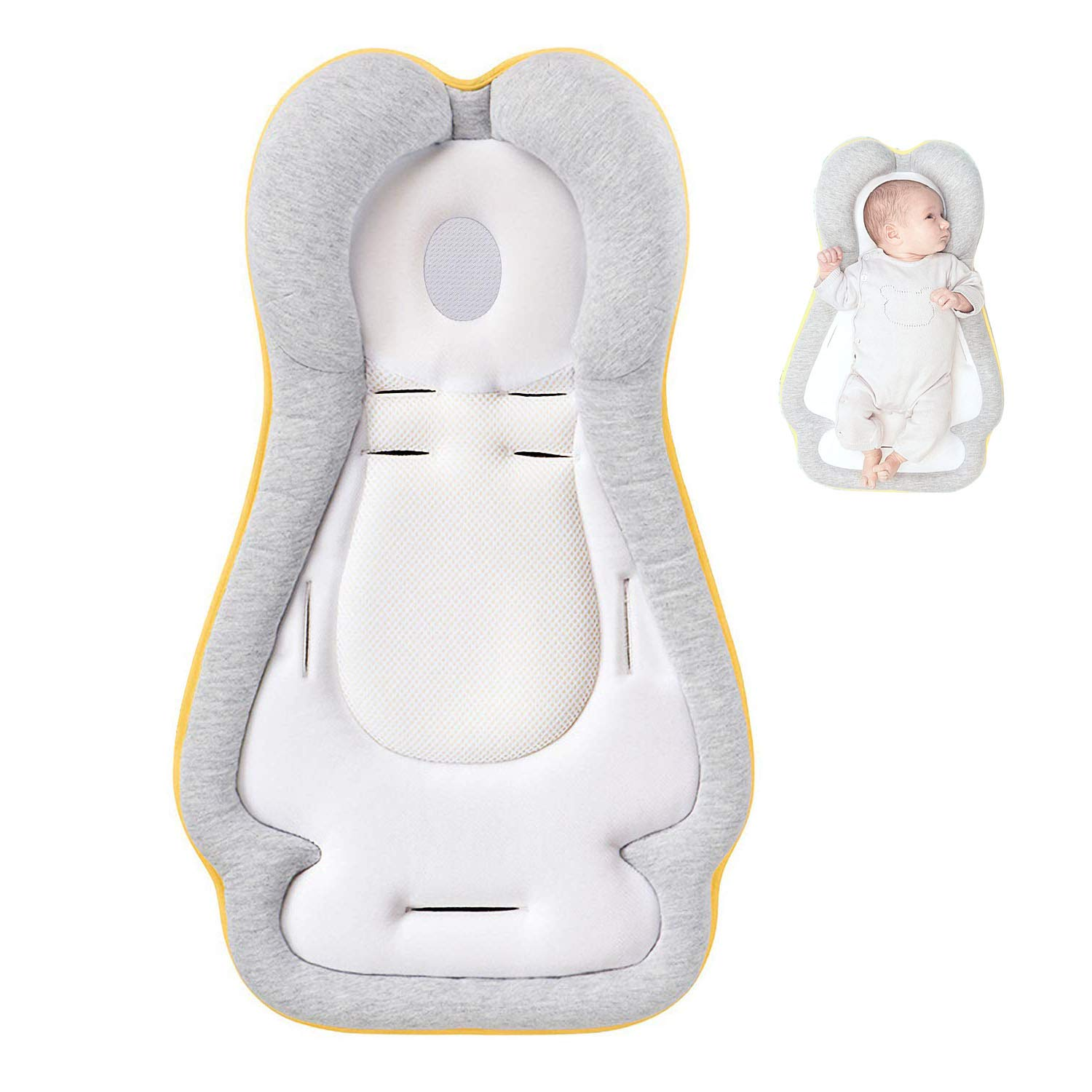 Portable Newborn Baby Head Support, Original Newborn Lounger, Baby Bed Mattress, Infant Sleep Positioner, Ultra-Comfortable Baby Pillow for Infants & Toddlers.