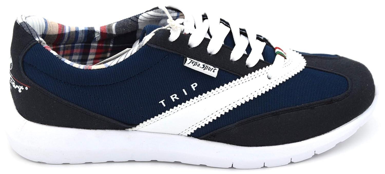 TEPA SPORT Herren Turnschuhe Freizeitschuhe Freizeitschuhe Freizeitschuhe Turnschuhe Wildleder Leder Art. Trip 40 Blau Bianco Blau Weiß 87a536