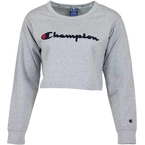 Champion Crewneck Croptop 111388-EJ001 GRYJ!!es damskie Blusa (GRYJ): Amazon.es: Zapatos y complementos