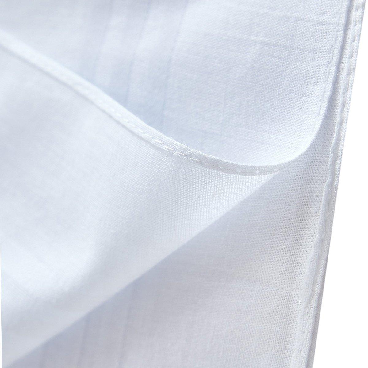LACS Men's Solid White Cotton Handkerchiefs Pack by LACS Handkerchiefs (Image #6)
