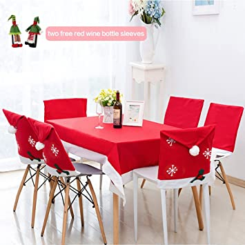 Christmas Chair Covers 6pcs U Kiss Santa Clause Red Hat For Party