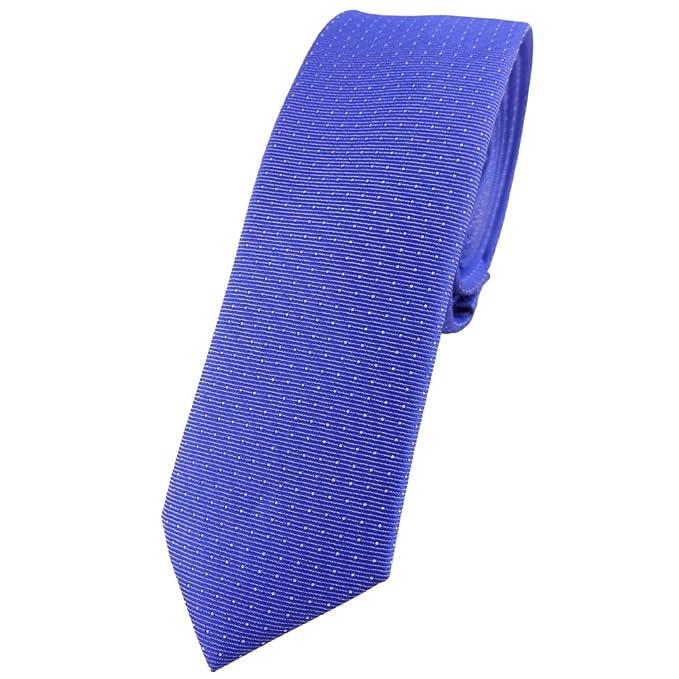 corbata de seda estrecha - azul plata lunares: Amazon.es: Ropa y ...