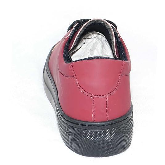 Visitar El Nuevo Malu Shoes Sneakers Bassa in Pelle gommata Bordeaux Linea Basic Fondo AntiShock (39) Muy Barato En Línea Barata nxVAv6bfb