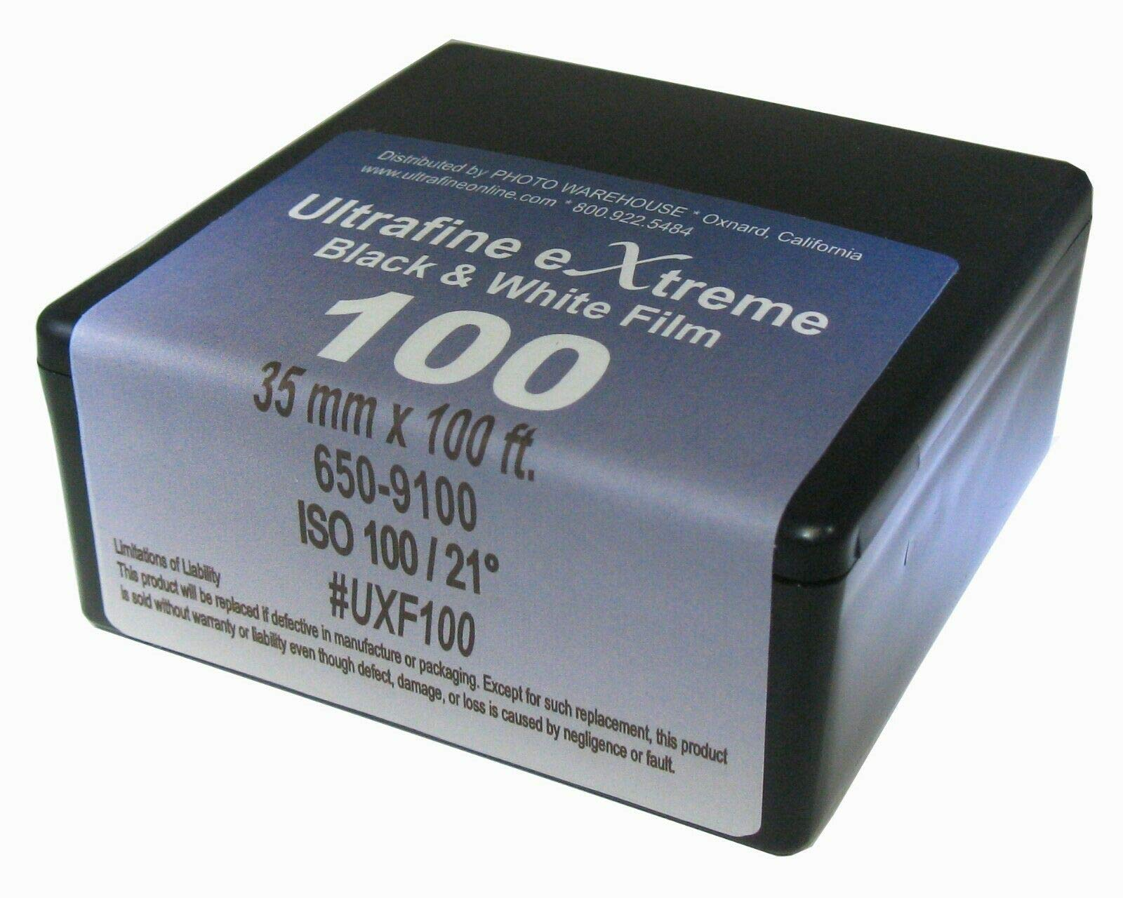 Ultrafine Xtreme Black-and-White 35mm x 100 foot Film ISO 100 Roll