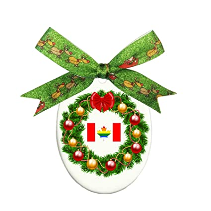 canada flag gay pride maple leaf oval ornament oval holiday christmas ornament decorative gift - Gay Pride Christmas Decorations