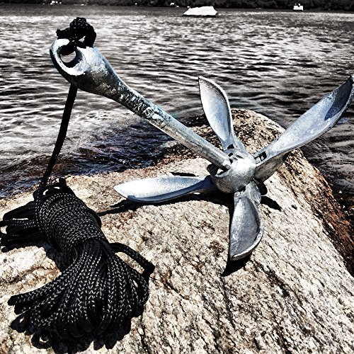 Best kayak anchor for canoes and jet skis galvanized for Fishing kayak anchor