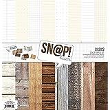 SIMPLE STORIES Snatp Wood Grain Basics Paper Kit, Multicolor