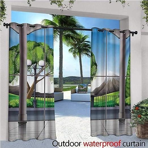 Landscape - Cortinas de patio con árboles en la superficie, sin ...