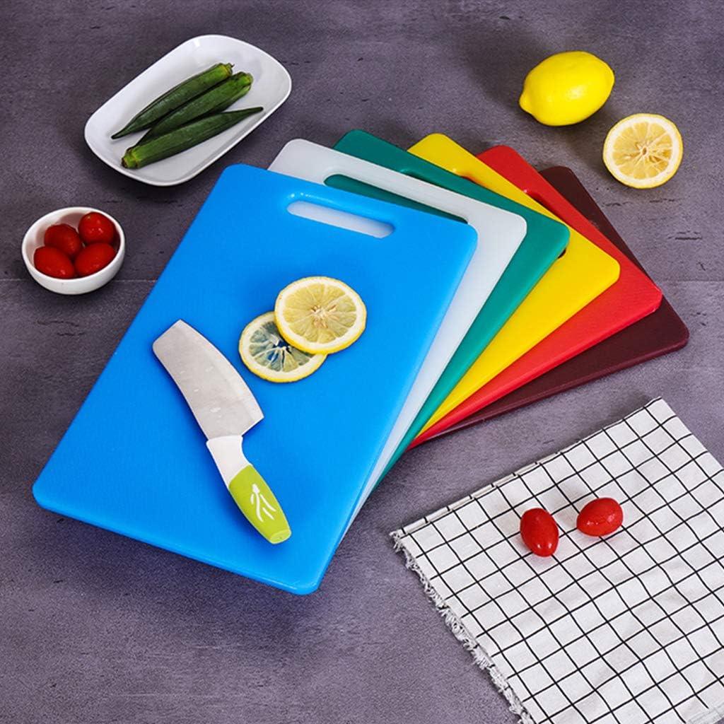 DSISI Schneidebrett Küche Kunststoff Gemüse Obst Fleisch Brot Schneidebrett 14,76 × 9,25 × 0,39 Zoll Camping Camping Essen Küche Hacken Blöcke-mehrere Farben Brown