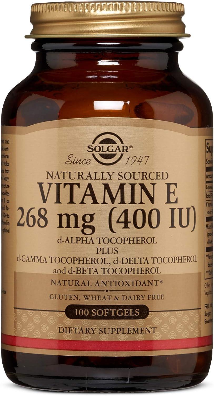 Solgar - vitamina E d-Alpha IU de tocoferol 400 - 100 cápsulas