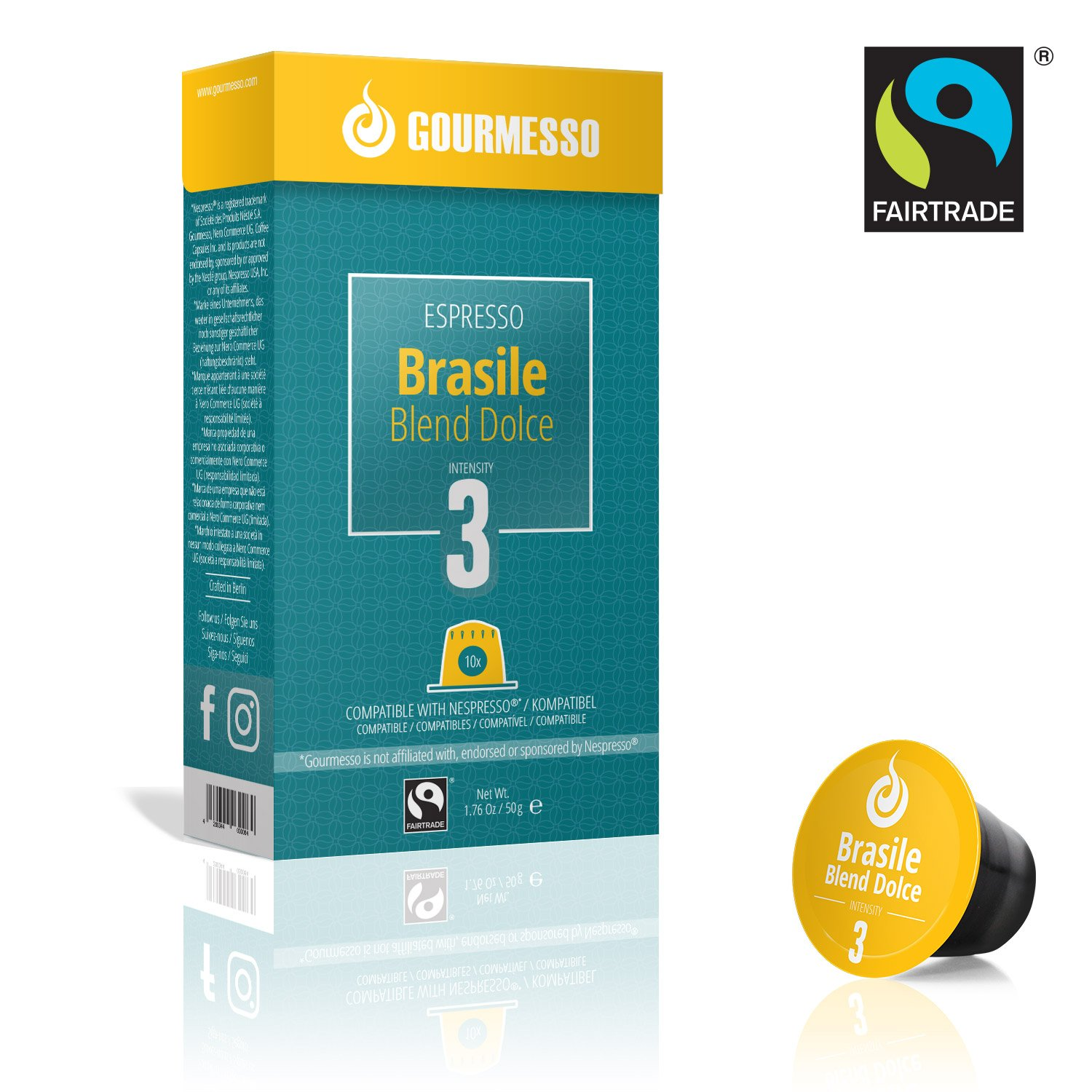 Gourmesso Brasile Blend Dolce (100 Capsulas): Amazon.es ...
