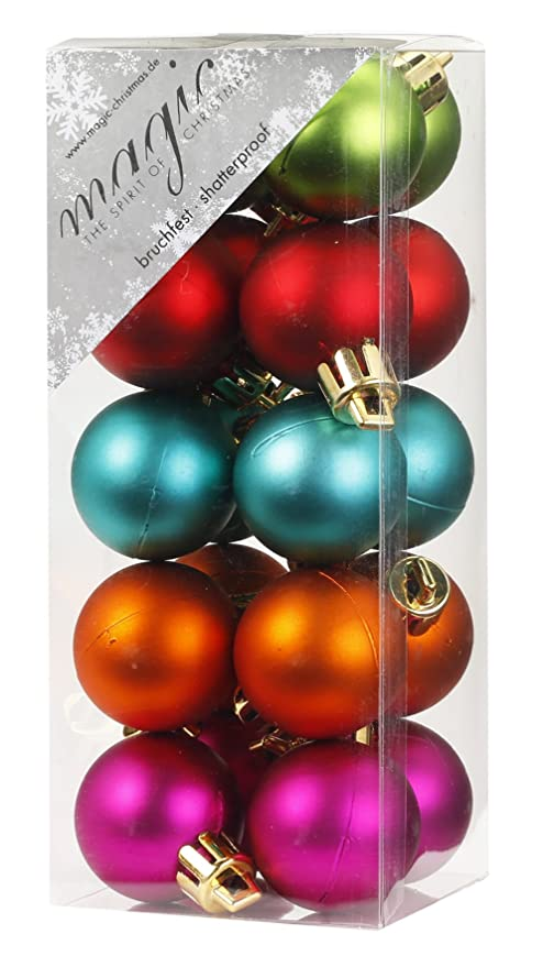 Christbaumkugeln Amazon.20 Christbaumkugeln 3cm Mille Fiori Kunststoff Bruchfest Dekokugeln Weihnachtskugeln Baumkugeln Baumschmuck Set Inge Glas Plastik Pvc 30mm