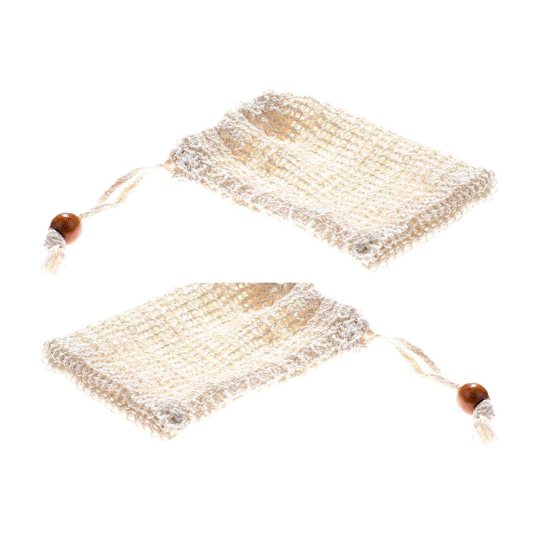 SIDCO 2 x Seifennetz Sisal Öko Seifensäckchen Bio natürlich abbaubar Peeling Effekt