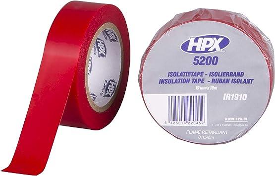 HPX MIR1910 - Cinta aislante, color Rojo, 1 Unidad: Amazon.es: Coche y moto