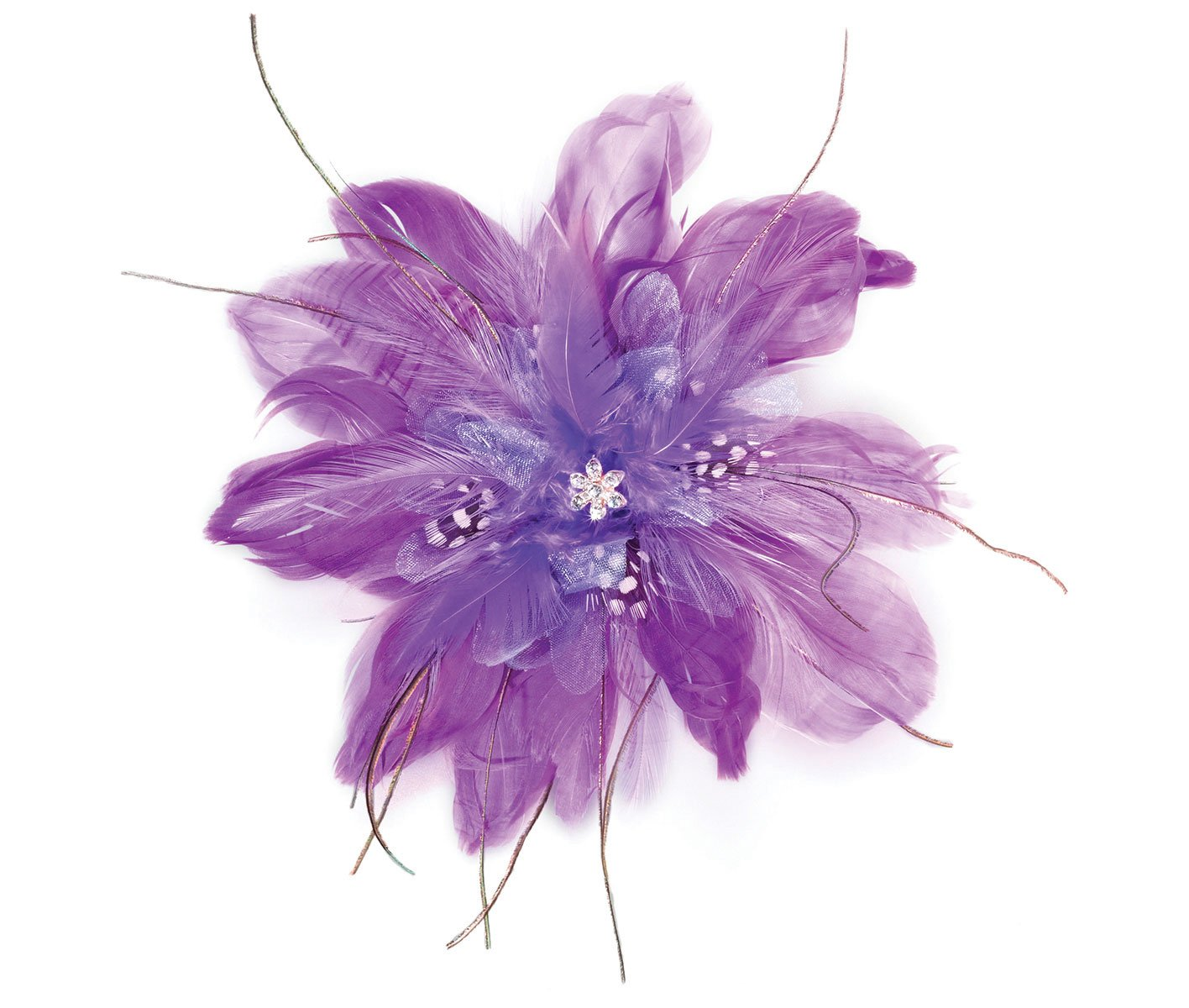 Lillian Rose Purple Feather Fascinator Hair Accessories Clip JL235 PL