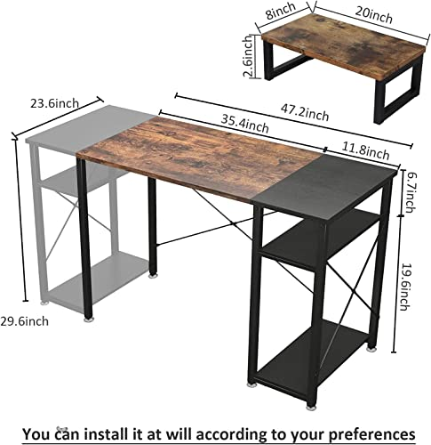 Computer Desk 47 inch Home Office Desk