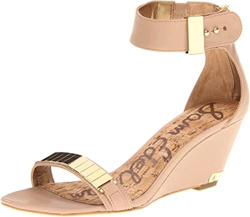Sam Edelman Womens Nude Wedge Sandals Size 7.5 M