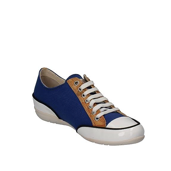 Zapatos de mujer de clase 1 ALVIERO MARTINI sneakers AP165 Lienzo, color azul y blanco Size: 39 EU