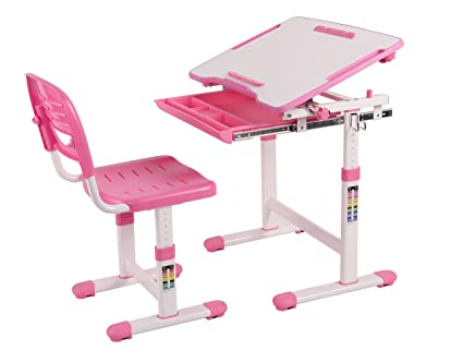 Awesome Wymo Kids Ergonomic Adjustable Childrens Desk U0026 Chair With Drawing Paper  Roll (Pink)