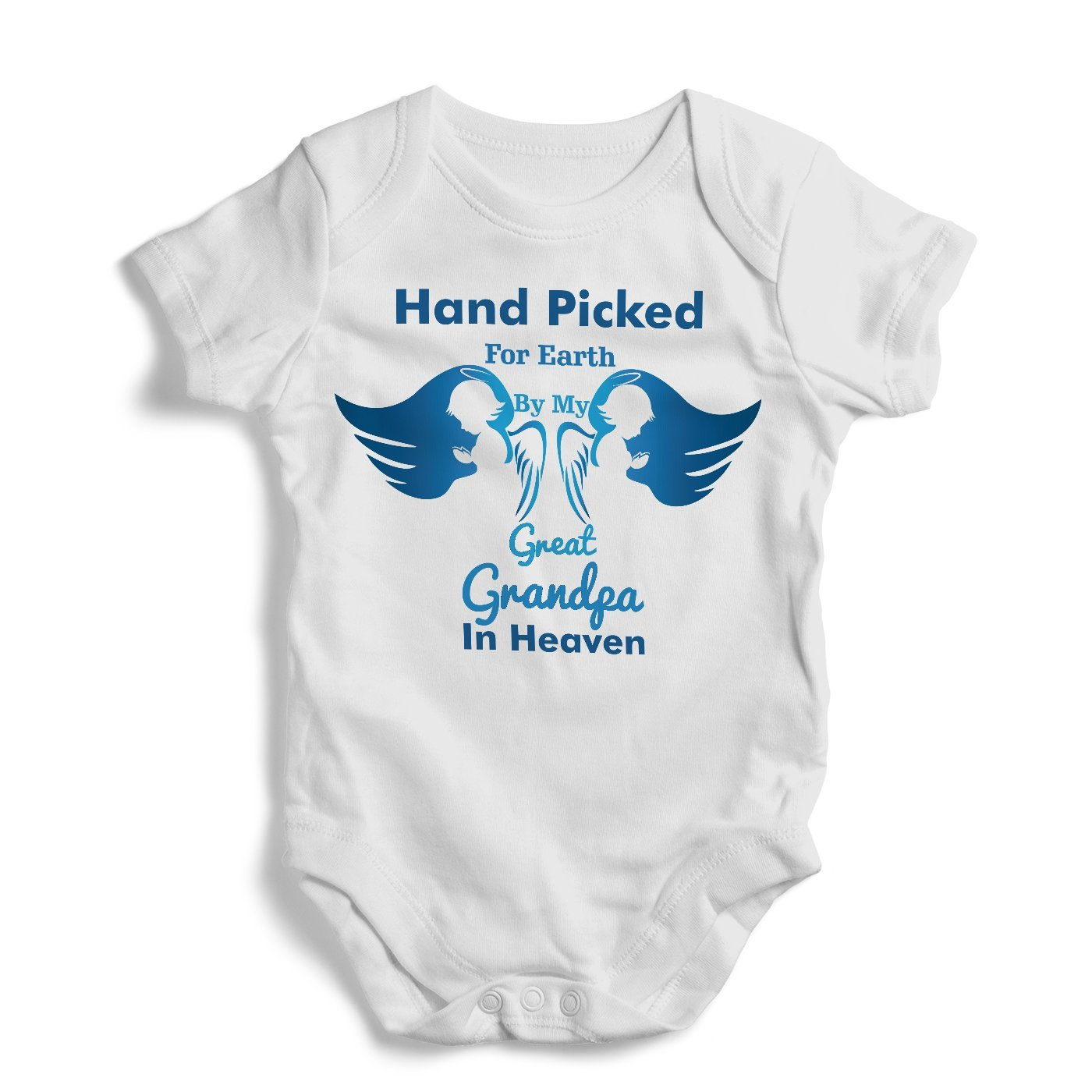 6ea5142d8 Amazon.com: Hand Picked For Earth By My Great Grandpa In Heaven - Onesie,  Funny, Humor, Baby Bodysuit, Romper, One Piece, New born: Clothing