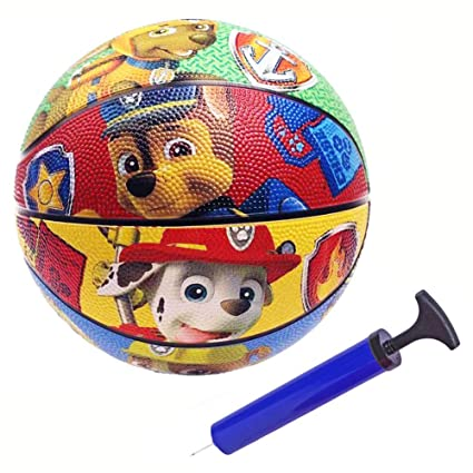 Full Color WF-YS Paw Patrol Sports Mini Rubber Basketball Childrens Playground Ball,7 inches
