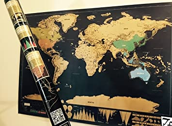 The ultimate easy scratch off world map travel tracker premium the ultimate easy scratch off world map travel tracker premium poster with vibrant colors scratch off gumiabroncs Gallery