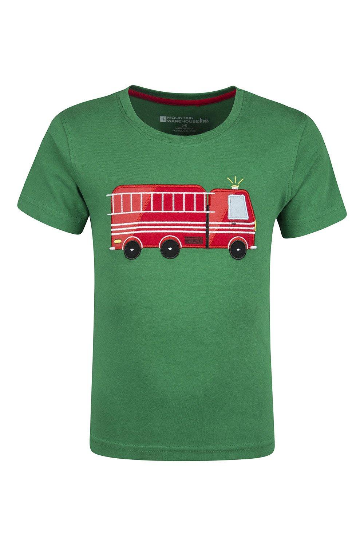 Mountain Warehouse Fire Engine Kids T-Shirt Green 2-3 years 024079025004