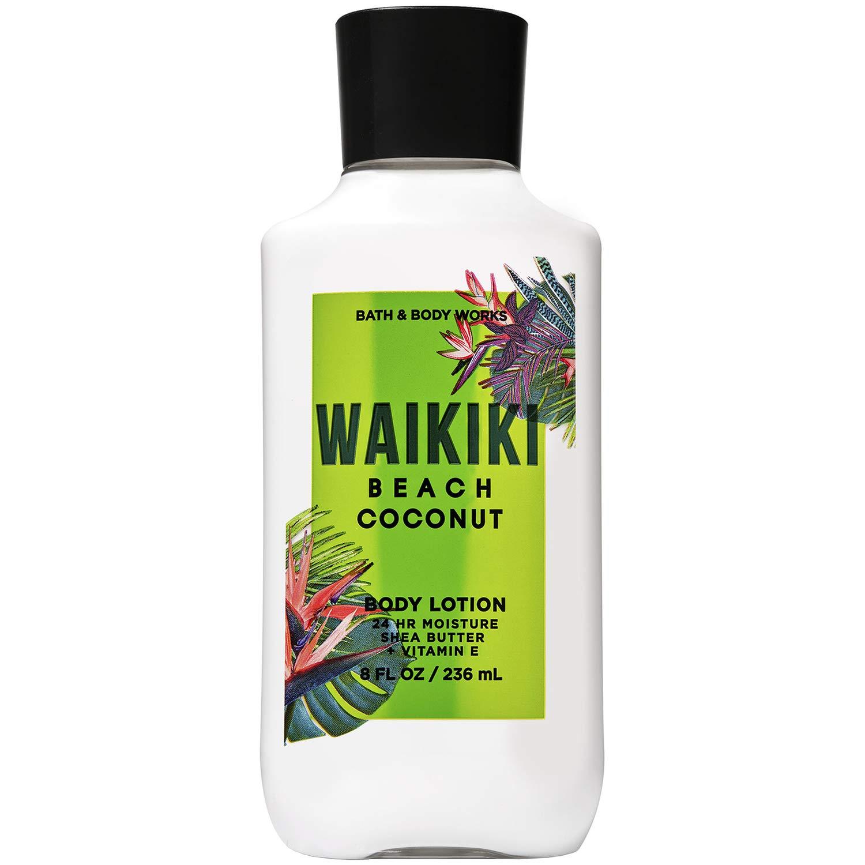 Bath and Body Works WAIKIKI - BEACH COCONUT Super Smooth Body Lotion 8 Fluid Ounce (2020 Edition)