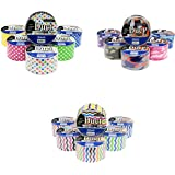 18 Roll Variety Pack Decorative Duct Style Tape (Polka-dot, Chevron, and Colorful Camouflage) by Basic