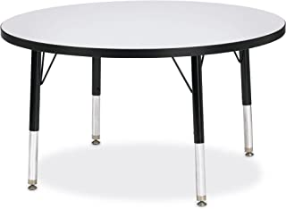 "product image for Berries Round Activity Table, T-Height, 42"" Diameter, Blue/Black/Black"