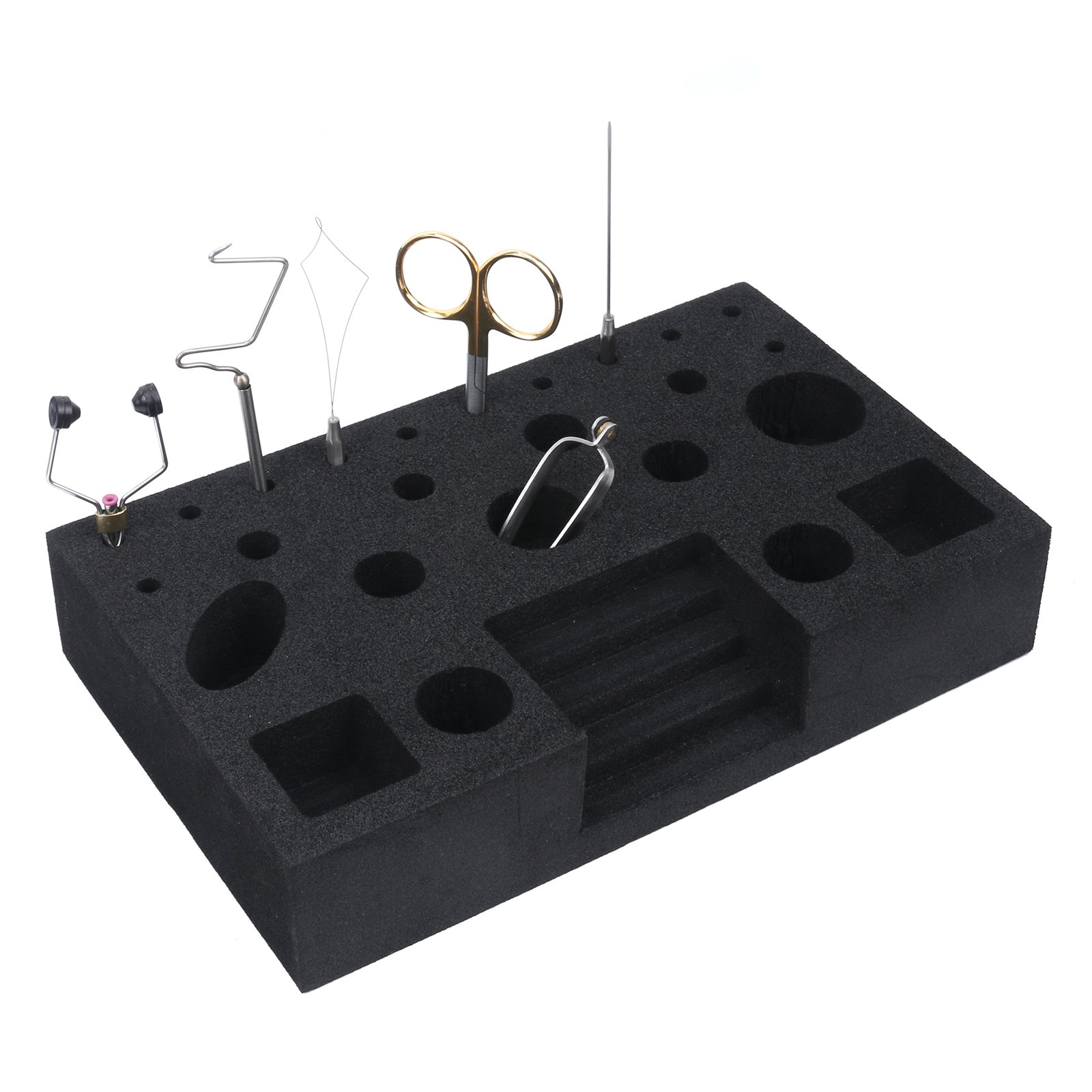 Maxcatch Fly Tying Tools with Tool Caddy(Included Scissors,Bobbin,Whip Finisher,Hackle Pliers,Bodkin,Bobbin Threader)
